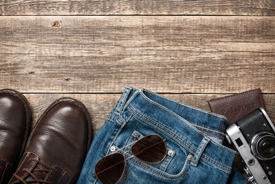 Traveler men's clothes and accessories