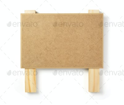 wooden sign board isolated on white