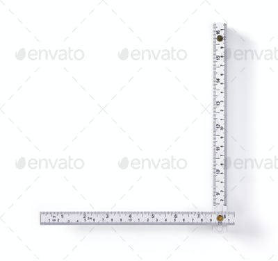 meter ruler isolated on white