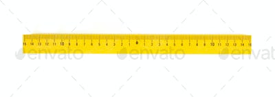ruler isolated on white
