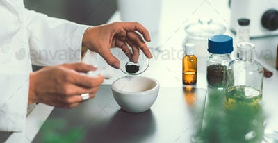 Homeopathy lab.