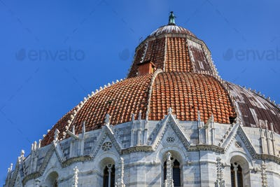 Pisa Italy. Baptistry on the Piazza dei Miracoli