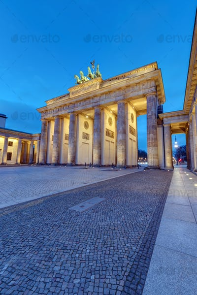 Different perspective on the famous Brandenburg Gate