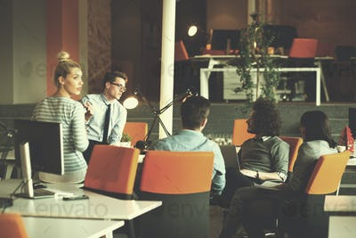 Young Business Team At A Meeting at modern office building