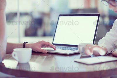 startup Business team Working With laptop in creative office