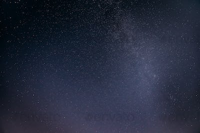 Night View Of Natural Glowing Stars Of Milky Way. Night Starry S