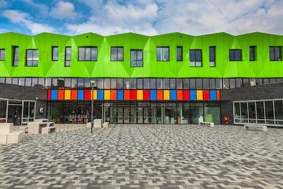Contemporary school building