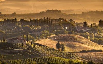 Tuscany Village landscape Scene