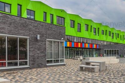 Contemporary school yard