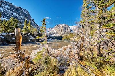 The Loch Lake, Rocky Mountains, Colorado, USA.