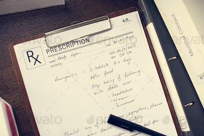 Doctor wrote a patient prescription