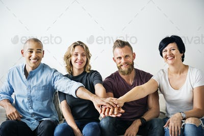 Diverse people with teamwork concept