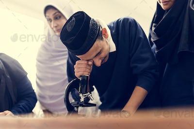 Muslim students in class