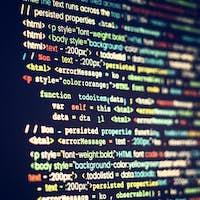 Computer program coding on screen