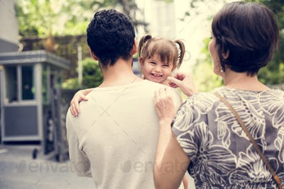 Family outing holiday together