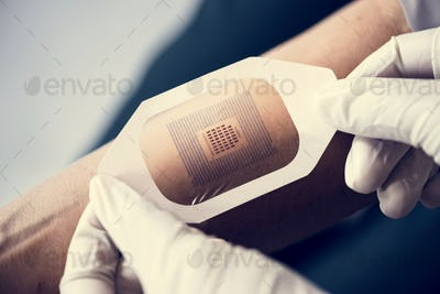 Codes scanner used on a human arm