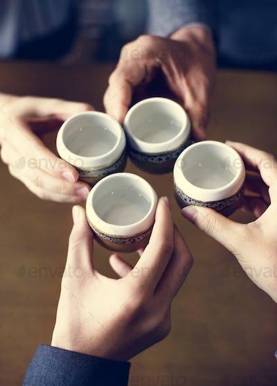 Japanese friends tea party