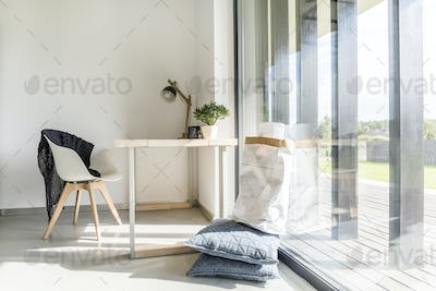 Office with view on terrace