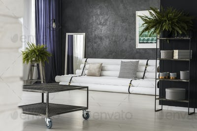 Industrial table in living room