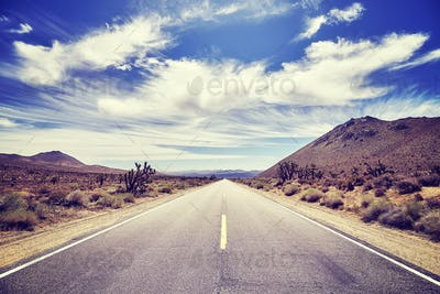 Picture of a deserted road, travel concept.
