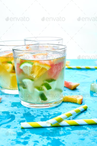 Healthy Detox citrus water or lemonade.