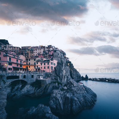 Fantastic landscape of Manarola city