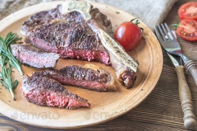 Beef steak with fresh rosemary