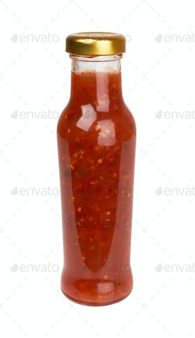 hot sauce on white