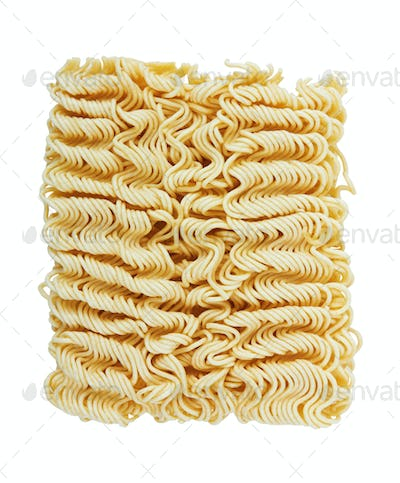instant noodles on a white background
