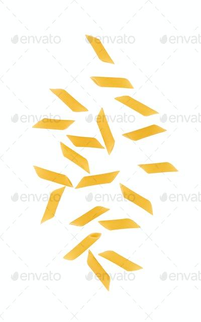 pasta on white