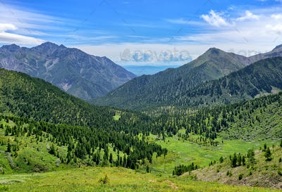 Mountain landscape in Siberia