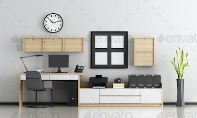 Minimalist home workplace