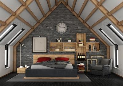 Mansard with master bedroom