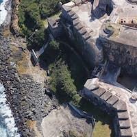 Aerial closeup view of Castillo San Felipe del Morro in San Juan