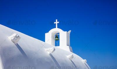 White church in Santorini Greece