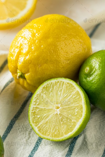 Raw Organic Lemons and LImes