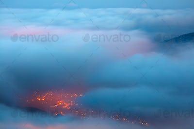 Bird's eye view on Faraya mountain