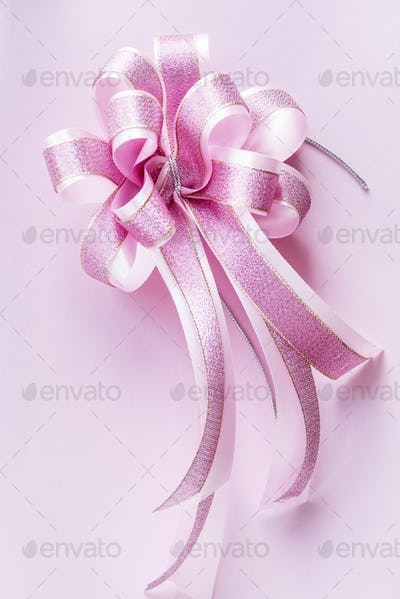 Closeup of decorative ribbon