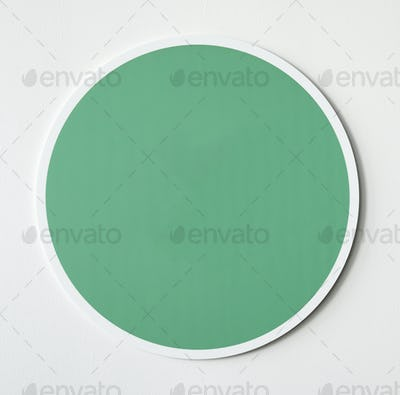Green circle button icon isolated