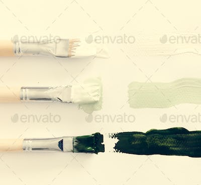 Paintbrush Art Tool on White Background