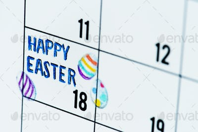Easter holiday calendar reminder