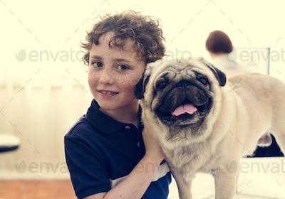 Dog at pet hospital