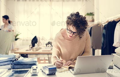 Woman working on a project