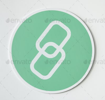 Green icon of network linking