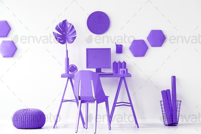 Purple workspace interior inspiration