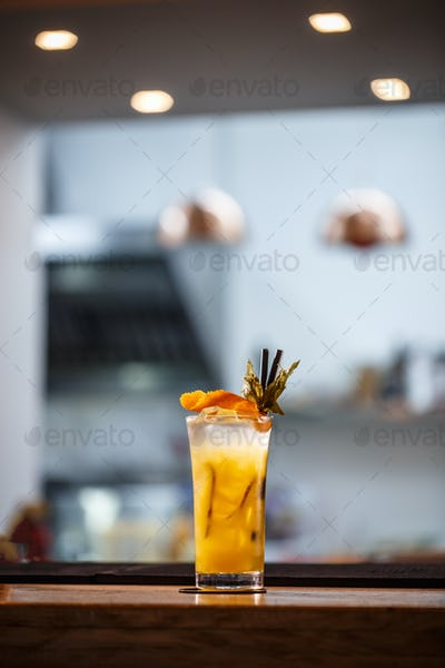 Refreshing cold non-alcoholic cocktail