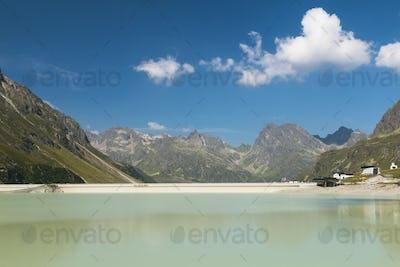 Silvretta Reservoir Lake in Summer, Austria