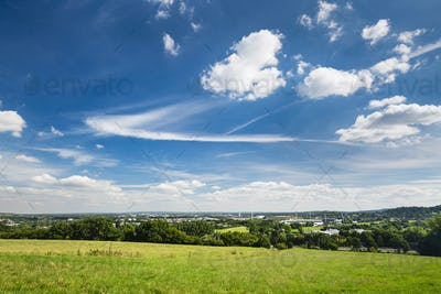 Aachen Overview With Deep Blue Sky