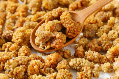 dried white mulberries
