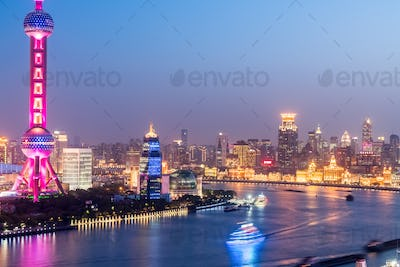 the huangpu river night scene